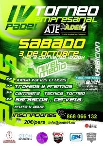 Cartel IV Torneo Empresarial Padell AJE 2015