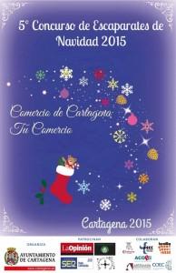 Cartel Concurso Escaparates Navidad 2015