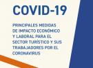 Principales medidas de impacto económico y laboral para el sector turístico y sus trabajadores por el COVID-19